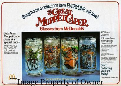 Great Muppet Caper glasses ad