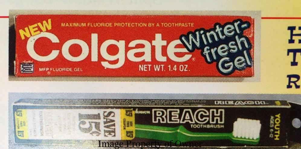 Colgate toothbrush and paste