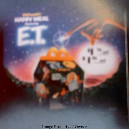 ET happy meal box