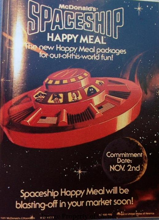 Spaceship Happy Meal Ad