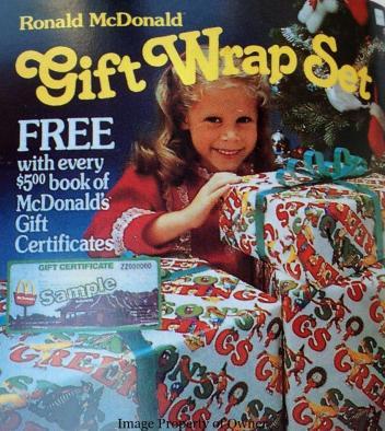 McDonald's Gift Wrap set