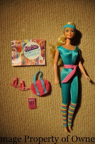 1984 Toys For Girls : Barbie yello s