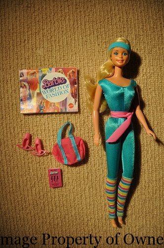80s Toy Dolls : Barbie yello s