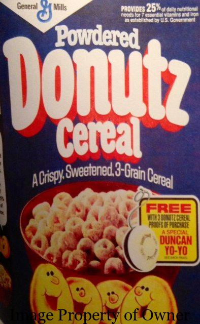 General Mills Powdered Donuts cereal author unknown