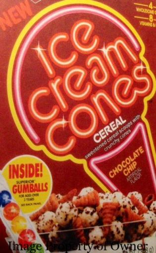 Ice Cream Cones Cereal author unknown