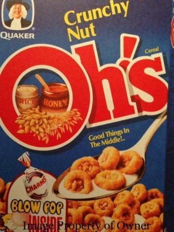 Quaker Crunchy Nut O's author unknown