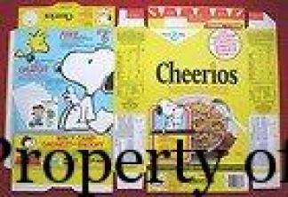 Snoopy Cheerios tinglyreward-