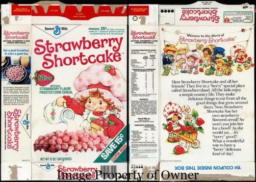 Strawberry Shortcake cereal via flickr