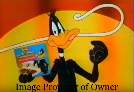 Daffy hawking Kid Cuisine