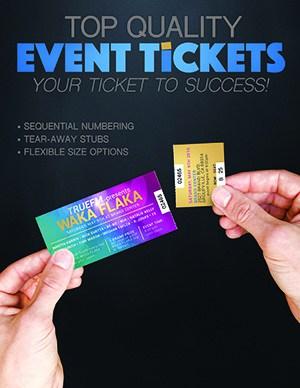 Event tickets Printing Miami