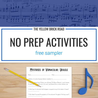 No Prep Activities Sampler (Free)