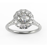 Daisy Basket Brilliant Round Halo Engagement Ring - Yellow ...