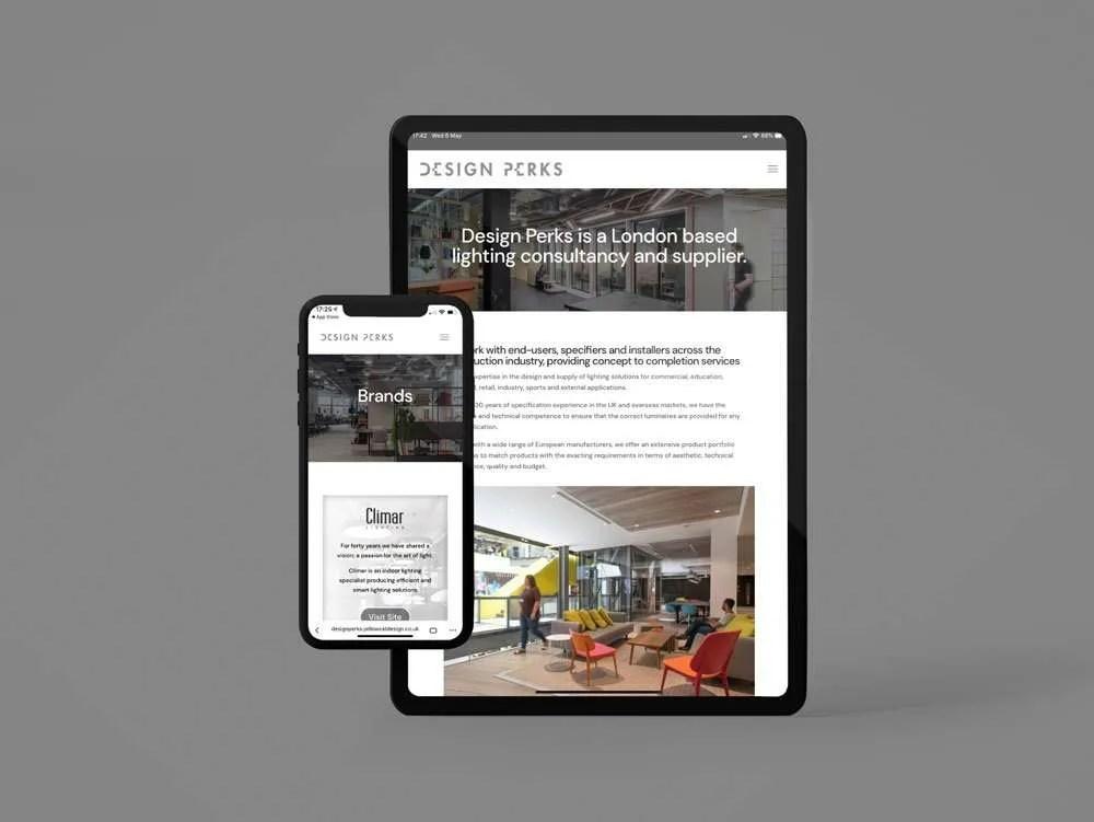 Design Perks Website iPhone & iPad