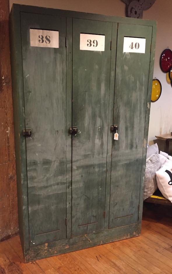 Yellow Chair Market Vintage Wooden Lockers