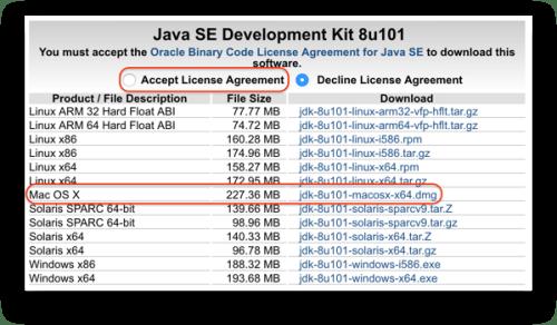 Cài đặt các công cụ phát triển - Chọn phiên bản JDK