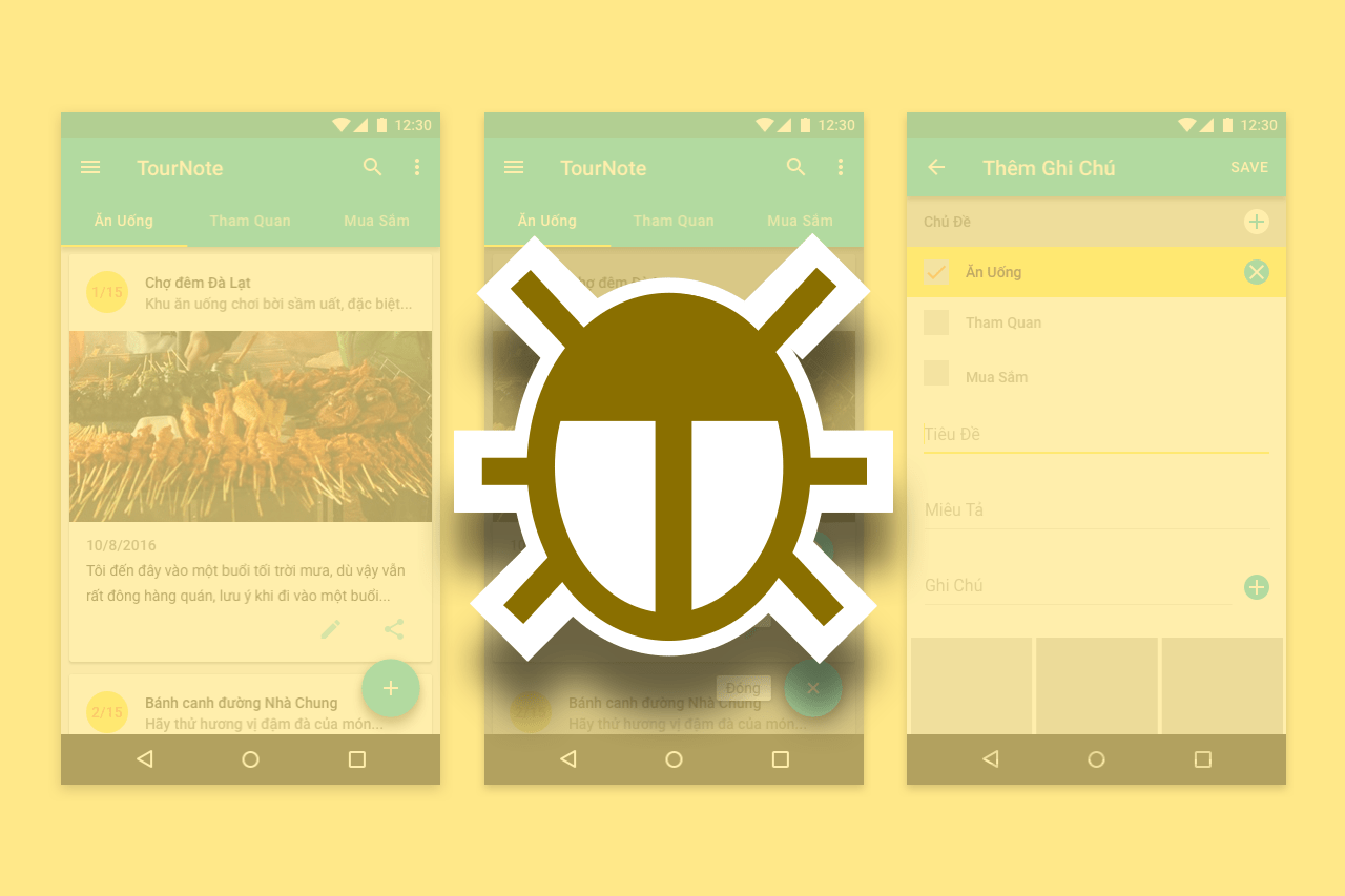 Android Bài 6: Dạo Qua Ứng Dụng TourNote & Thực Hành Debug Ứng Dụng
