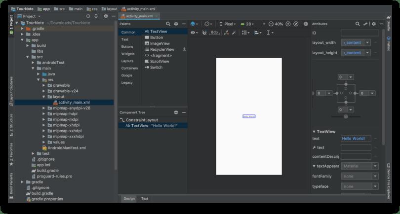Tạo giao diện người dùng - File activity_main.xml