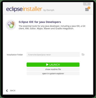 Cài đặt các công cụ phát triển - Eclipse Installer