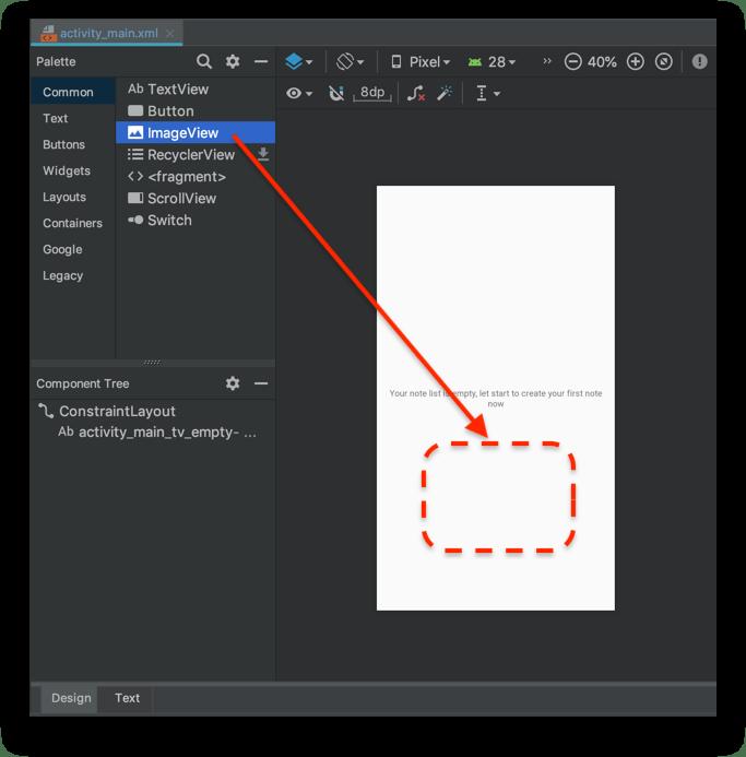 Tạo giao diện người dùng - Kéo thả ImageView