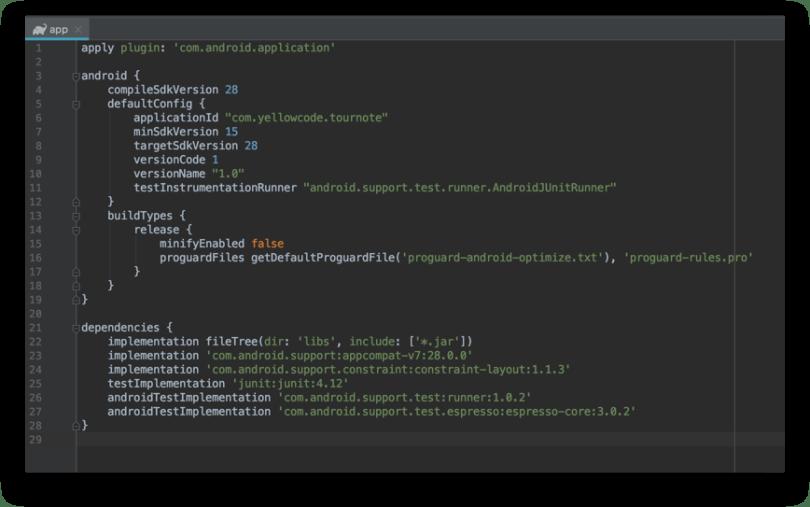 Gradle - build.gradle cấp độ module