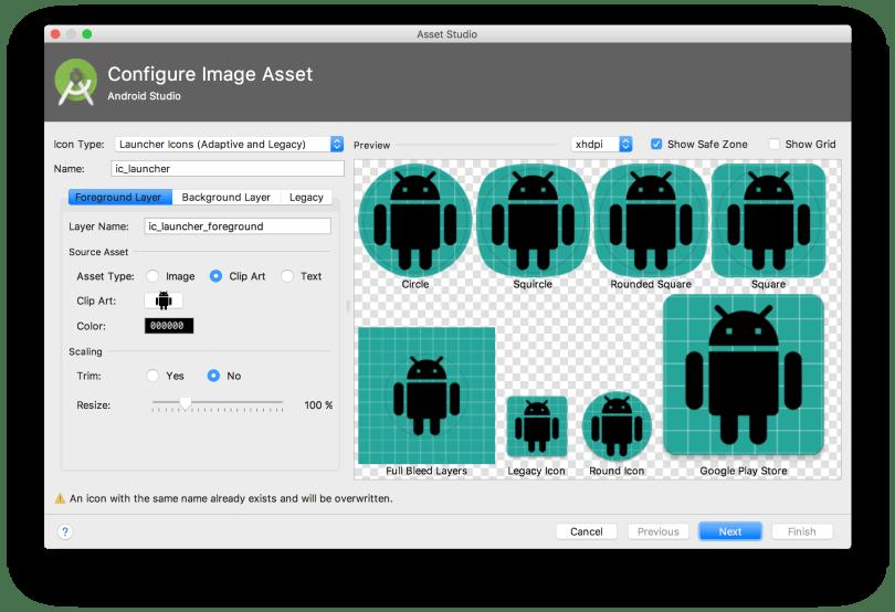 Android Studio 3.0 - Sử dụng Image Asset Studio