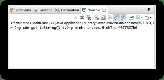 Lớp Object - Phương thức toString()