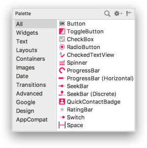 ConstraintLayout - Palette