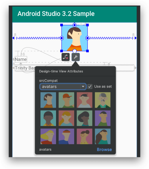 Android Studio 3.2 - Sample Data cho ImageView