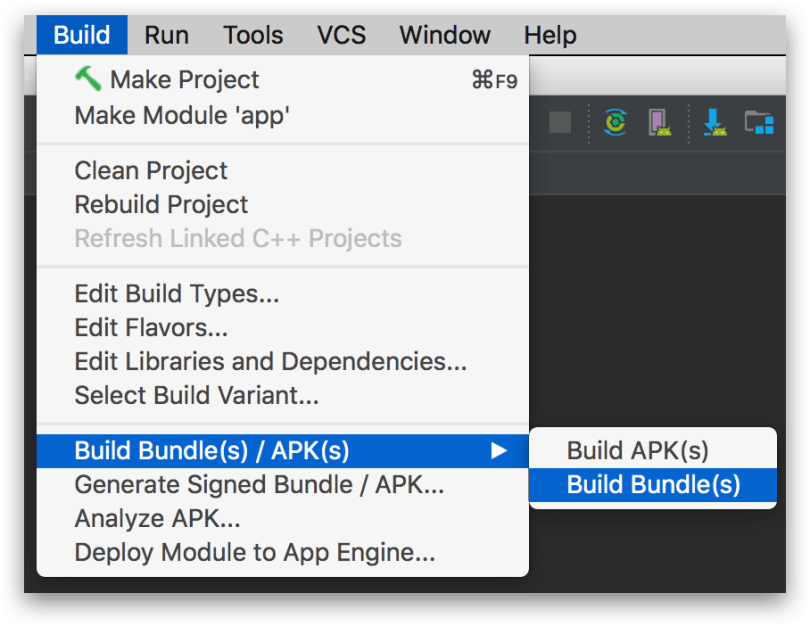 Android Studio 3.2 - Dynamic Delivery - Build file aab
