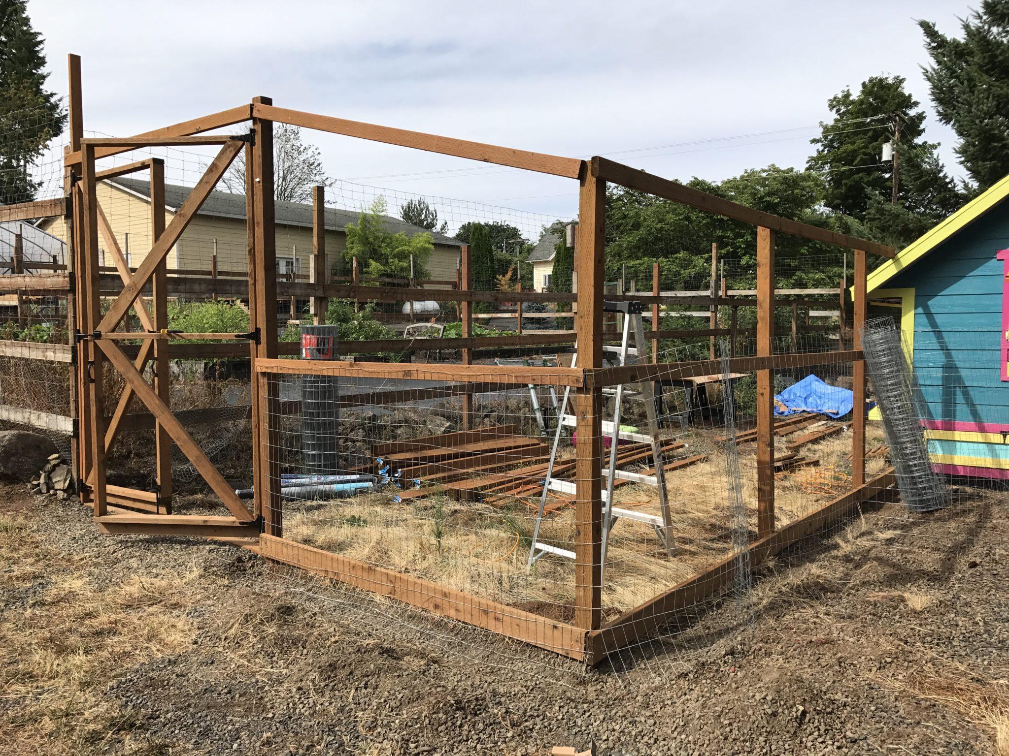 Chicken run: fencing wire – Yellow Cottage Homestead