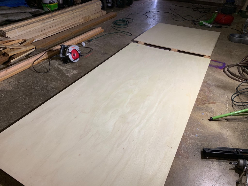 Plywood floor for duck house