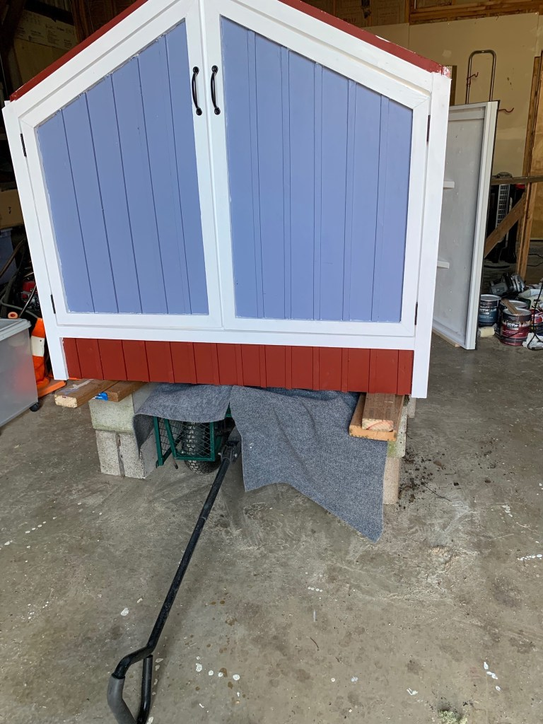 Cart under duck house