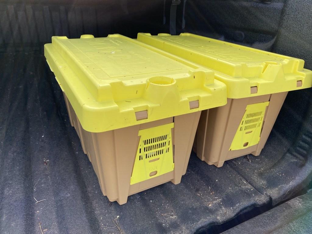 Plastic nuc boxes