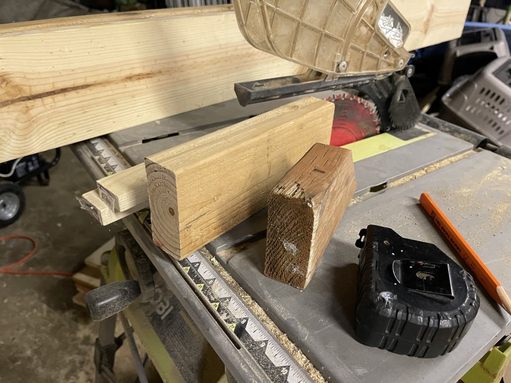 Wood and table saw