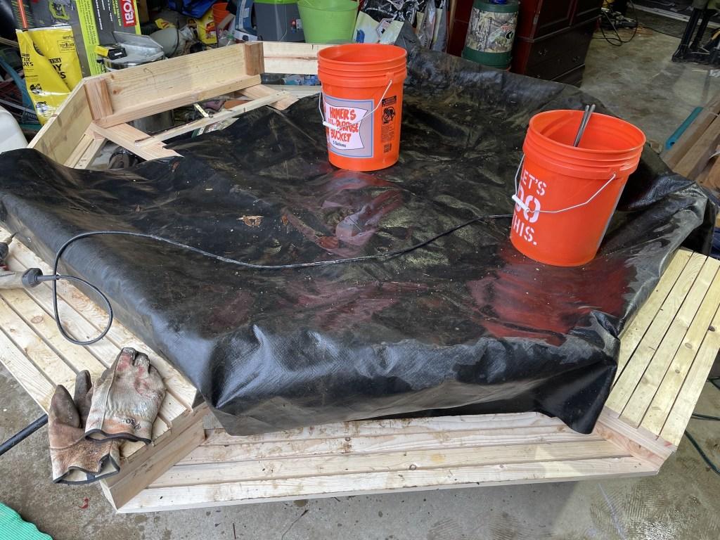 Adding pond liner