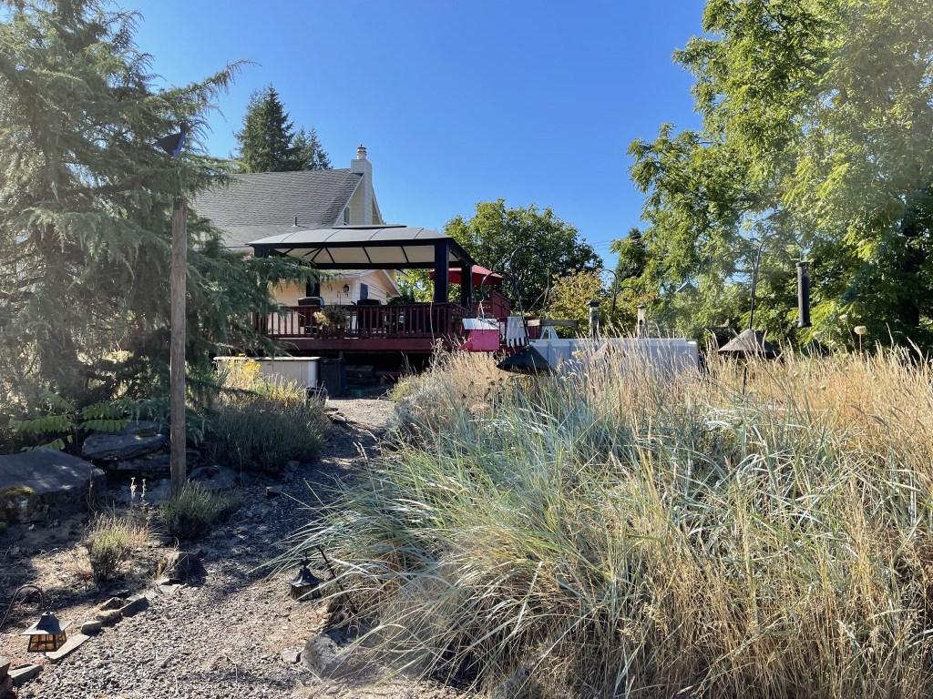 House, deck, gazebo, bird feeders
