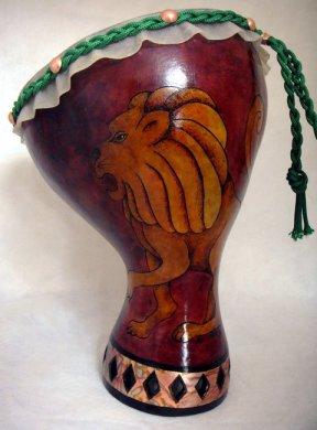 Lion Head Gourd Drum