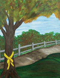 Painting Party- Tie a Yellow Ribbon @ Roberta's Cafe | Poteau | Oklahoma | United States