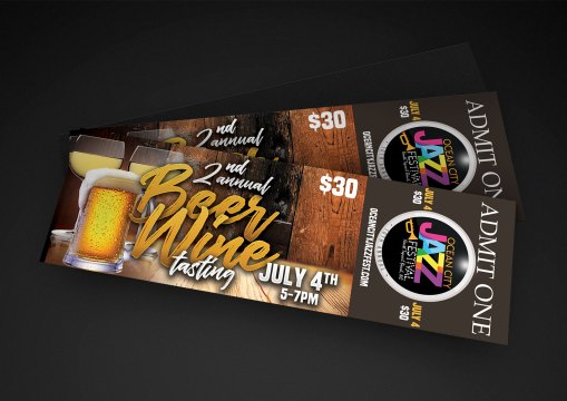 Ocean City Jazz Festival Promotional Design