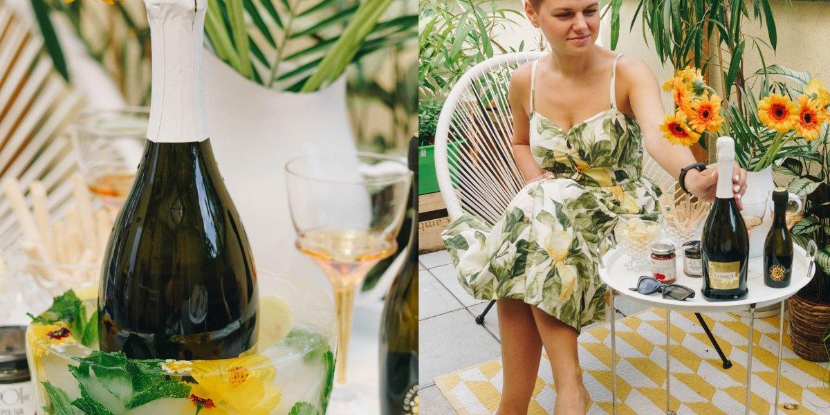 Ein italienischer Feierabend mit Prosecco DOC* + DIY Blumen Eis-Flaschenkühler