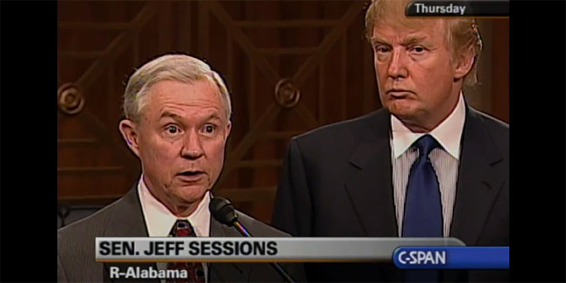 Image result for photos of jeff sessions and trump
