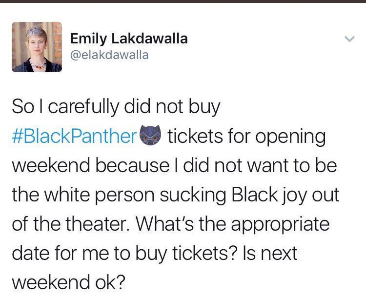 Image result for white people shouldn't be allowed to see black panther