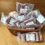 Basket full of pastured meats