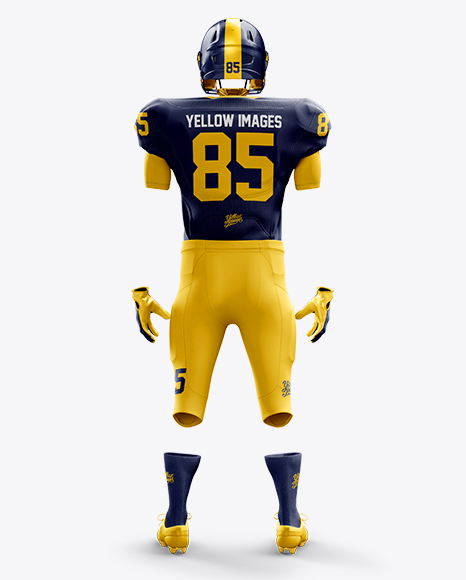 Download American Football Kit Mockup - Back View in Apparel ...