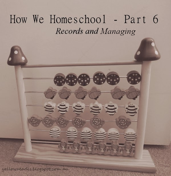 How We Homeschool - Part 6, Records and Managing, yellowreadis.com Image: Child's Abacus