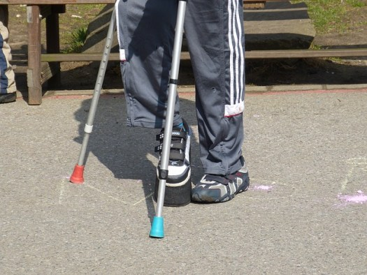 The Twice-Exceptional Child:Hidden in Plain Sight | Yellow Readis Picture: Child on crutches in park