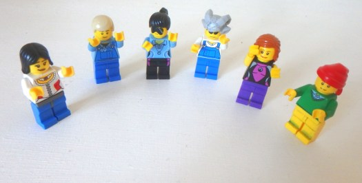 Image: Lego people with arms in air
