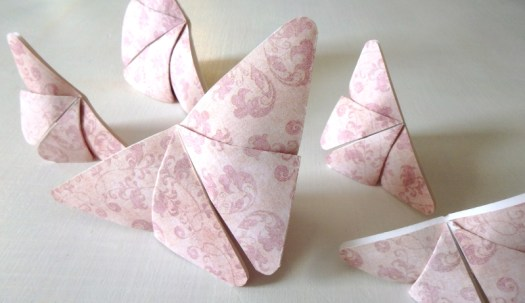 Image: Pink Origami Butterflies