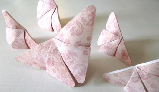 Image: Pink Origami Butterflies