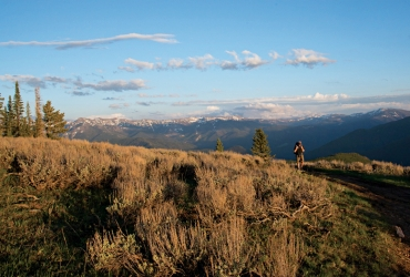 Hiking the Big Sky area offers incredible vistas.